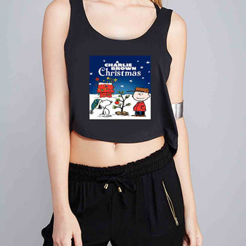 Charlie Brown Christmas for Crop Tank Girls S, M, L, XL, XXL *07*