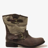 Distressed Canvas Booties