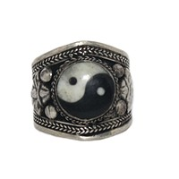 Adjustable Ring Ying Yang Ring Handmade Ring Tibetan Ring Tribal Ring Gypsy Ring RB243