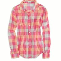 AEO FACTORY GIRLFRIEND PLAID SHIRT