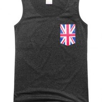 Simple Union Jack Badge Vest U GHH001