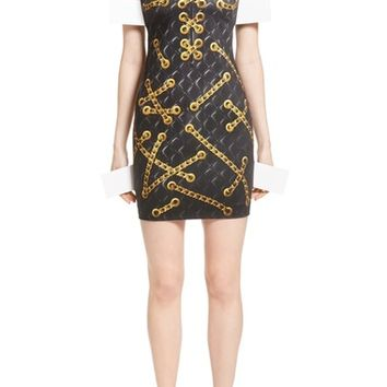 Moschino Trope l'Oeil Quilted Chain Dress | Nordstrom