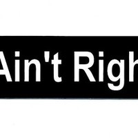 Motorcycle Helmet Sticker - I Ain't Right! Helmet Sticker