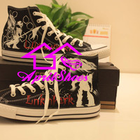 Converse Sneakers Customize Converse Linkin Park All Star Black High Top Shoes