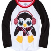 Long Sleeve Penguin Pajama Tee | Girls Pajamas Pjs, Bras & Panties | Shop Justice