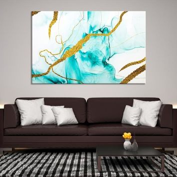 92718 - Abstract Wall Art | Marble Canvas Print | Ink Painting Art | Refined Wall Art | Large Marble Wall Art | Impressionism Art