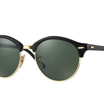 Ray Ban Clubround Polarized Green Classic G-15 Sunglasses RB4246 901/58 51