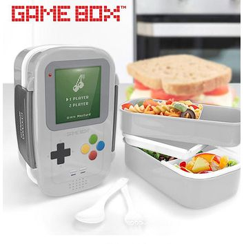 My Cartoon Lock&Lock Double Console Lunch Storage Box Bento Box Food Container Game Machine Lunch Boxs