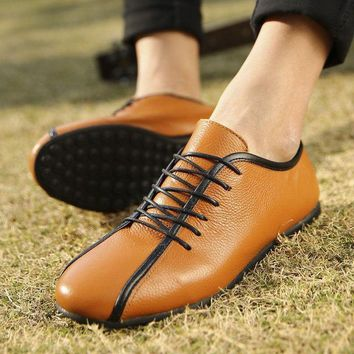 Soft Genuine Leather Casual Comfortable Shoes