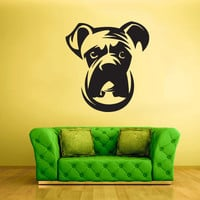 Wall Vinyl Sticker Decals Decor Art Bedroom Design Bulldog Dog Face Animal (z1928)