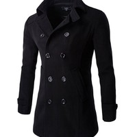 Lapel Double Breasted Men Coat