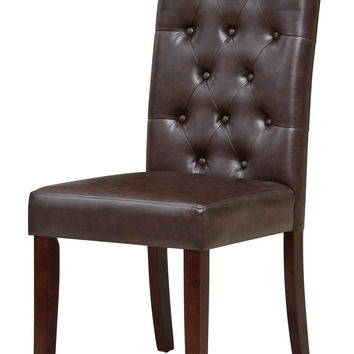 Carthage Brown Tufted Dining Chair (Set of 2)