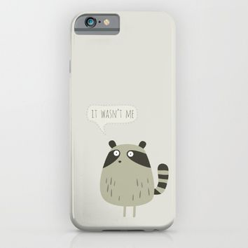 Raccoon and cats iPhone & iPod Case by Fuzzorama