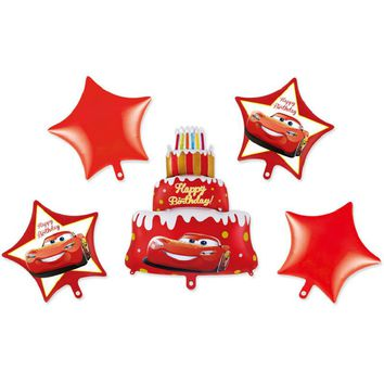 Disney Pixar Cars 3 Lighting McQueen Mickey Minnie Mouse Balloon Happy Birthday Party Cake Decoration Gifts Toys For Kids Baby