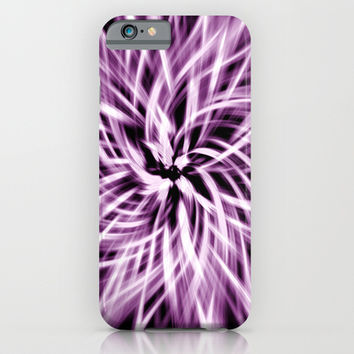 Purple Abstract Swirling Vortex iPhone & iPod Case by Tigerlynx