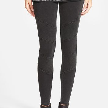 Sun & Shadow Texture Panel Leggings | Nordstrom