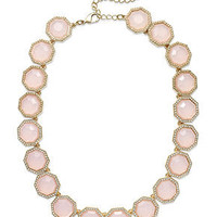 Charter Club Necklace, Gold-Tone Milky Pink Stone Collar Necklace - Fashion Jewelry - Jewelry & Watches - Macy's