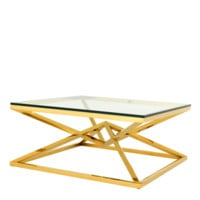 Gold Crossed Leg Coffee Table | Eichholtz Connor