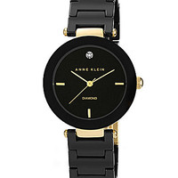 Anne Klein Black Ceramic Watch - Black
