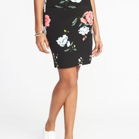 Ponte-Knit Pencil Skirt for Women | Old Navy