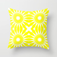Yellow Flowers Throw Pillow by 2sweet4words Designs