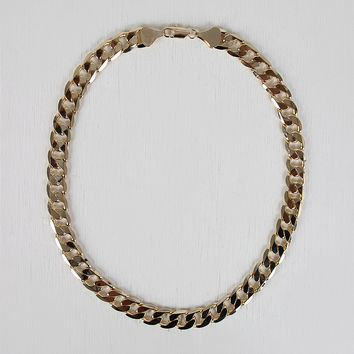 Flat Curb Link Necklace
