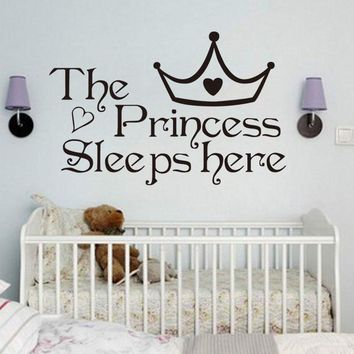 DCTOP The Princess Sleep Here Wall Stickers For Kids Room