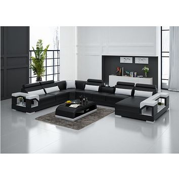 Luxury Bright Wide Sectional Sofa Furniture