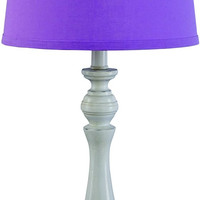0-017934>Kian 1-Light Table Lamp White/Purple