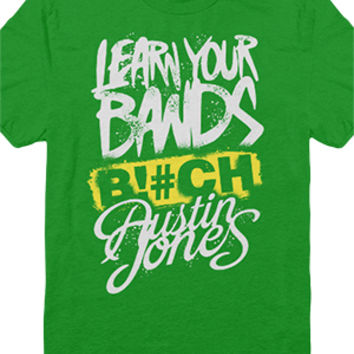 Learn Your Bands Tee (Kelly Green)