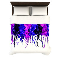 "Claire Day ""Drops"" Purple Duvet Cover 