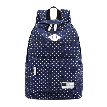 Korean Canvas Printing Backpack Women School Bags for Teenage Girls Cute Bookbags Vintage Laptop Backpacks Female Dropshipping