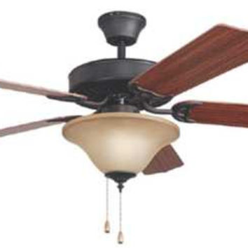 "Bala 52"" Dual Mount Ceiling Fan With Bowl Light Kit, Aged Bronze"