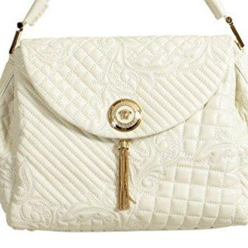 Gianni Versace Leather White Women s Handbag Shoulder Bag 39aa285391d8a
