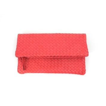 Hand Woven Leather Clutch