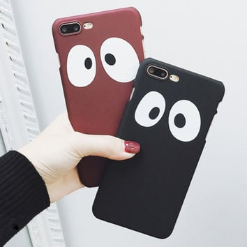 Fashion Big Eyes Phone Case For iPhone 7 7 Plus 6 6s Plus Hard Plastic Cute Cartoon Eyes Cover For iPhone 7 Case Foundas Coque -0328
