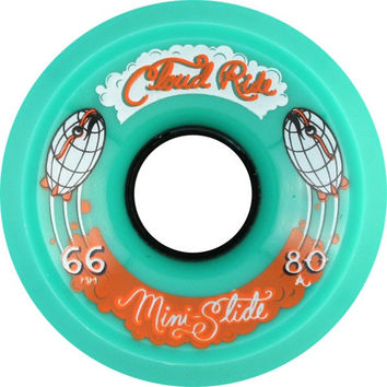 Cloud Ride! Slide Mini 66mm 80a Teal Longboard Wheels