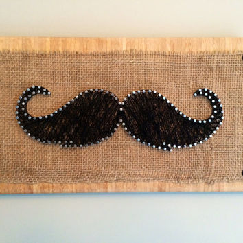 Moustache wall or shelf decor!