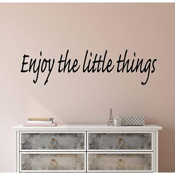 Vinyl Wall Decal Stickers Motivation Quote Words Enjoy The Little Things Inspiring Letters 2596ig (22.5 in x 6 in)