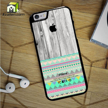 Skin Aztec Geometric Pattern On Wood iPhone 6S Case by Avallen
