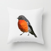 Geo - Robin Throw Pillow by Three of the Possessed