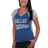 Dallas Cowboys Women's Bonita V-Neck T-Shirt – Royal Blue