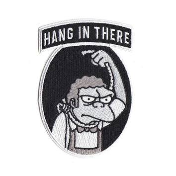 "Moe Szyslak ""Hang In There"" Simpsons Patch"