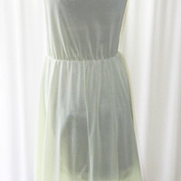 Nightgown Gotham Bombshell Sheer Soft Green Chiffon Accents Peaked Elastic Waistline Like New 42 Bust on Etsy