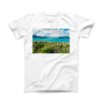The Vivid Paradise ink-Fuzed Front Spot Graphic Unisex Soft-Fitted Tee Shirt