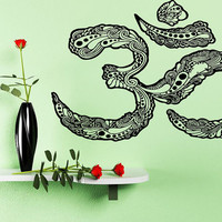 Room Wall Decal Sticker Decor Art Om Yoga Symbol Sign Decorative Floral Abstract 1343