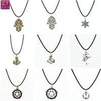 Hot new Chokers Necklaces retro Anchor dolphin five-pointed star Snowflake Hand pendant necklace Women Jewelry Bijoux