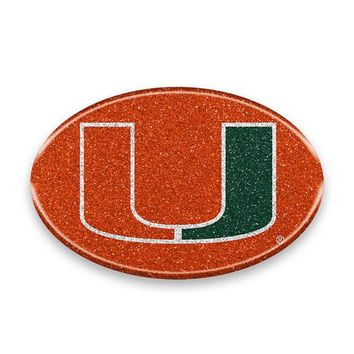 Miami Hurricanes Bling Auto or Hard Surface Emblem Decal NCAA Licensed