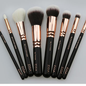 2016 New 8pcs Zoeva Rosegold Makeup Brush Set