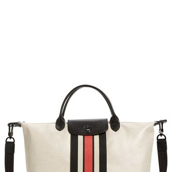 Longchamp 'Medium Ruban d'Or' Metallic Canvas Tote | Nordstrom